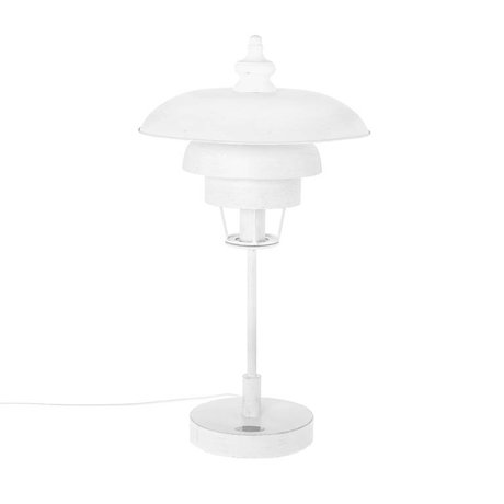 Riverdale Table lamp Boston white metal 68cm