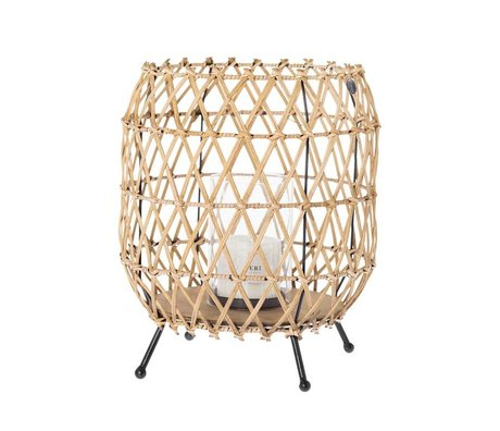 Riverdale Windlight Urban brown rattan 36cm