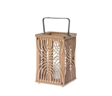 Riverdale Lanterne Urbaine en bambou marron 33cm