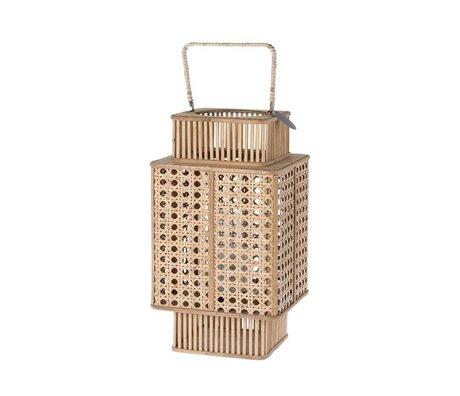 Riverdale Lanterne Urbaine en bambou brun 44cm
