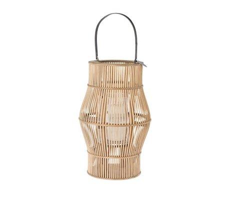 Riverdale Lanterne Urbaine en bambou marron 50cm