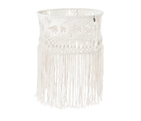 Riverdale Suspension Bohème en coton blanc 43cm