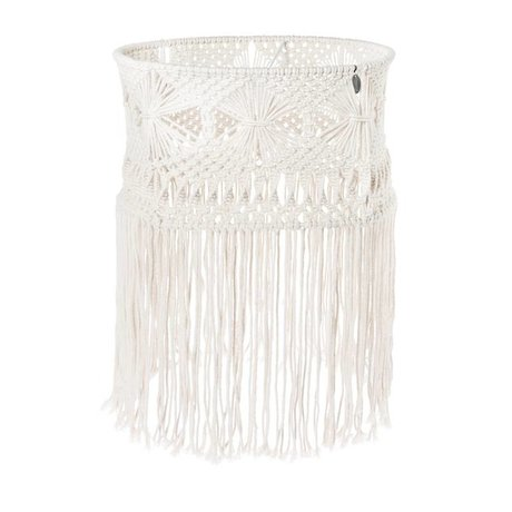 Riverdale Hanging lamp Bohème white cotton 43cm