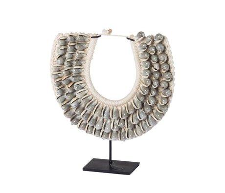 Riverdale Ornament Nomad grijs schelpen 28cm