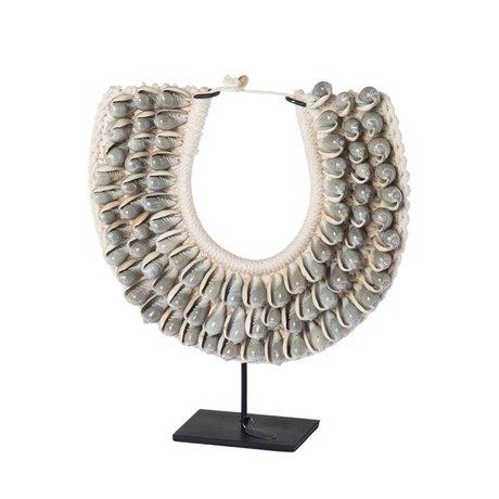 Riverdale Ornament Nomad gray shells 28cm