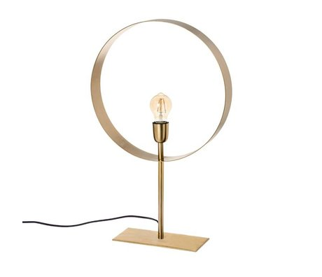 Riverdale Table lamp Bryce gold steel 62cm
