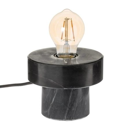 Riverdale Table lamp Bryce black marble 13cm