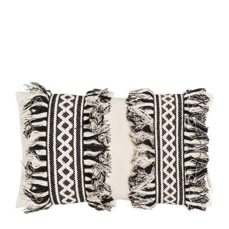 Riverdale Kissen Vicente creme weiße Baumwolle 35x60cm