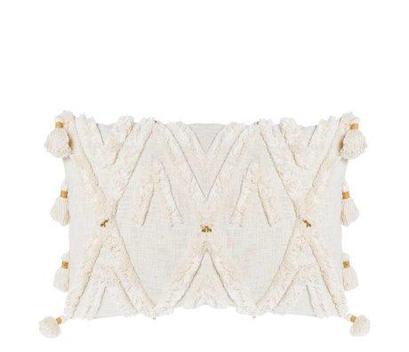 Riverdale Kissen Ibiza creme weiße Baumwolle 50x70cm