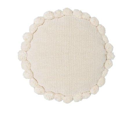 Riverdale Oreiller Ibiza autour de coton blanc crème ø50cm