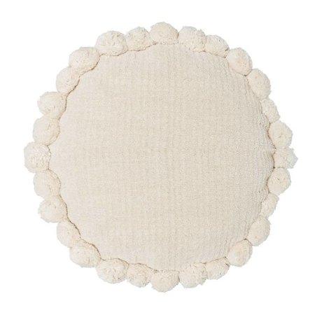 Riverdale Kussen Ibiza rond crème wit  katoen ø50cm