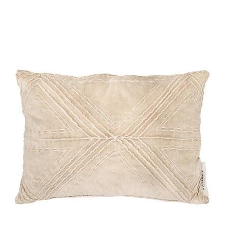 Riverdale Kissen Lily beige braun Samt Baumwolle 35x50cm
