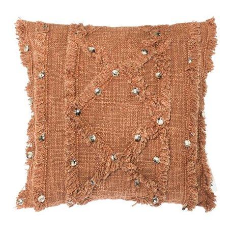 Riverdale Coussin Rusty coton terra brun 45x45cm