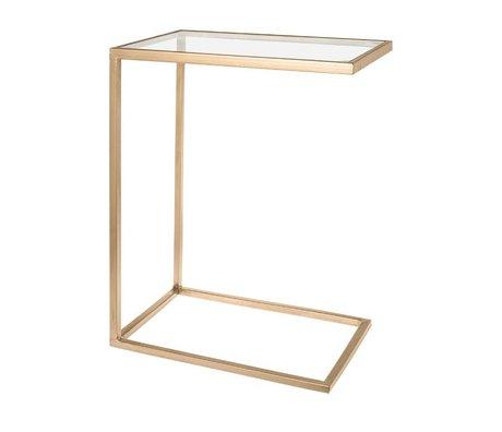 Riverdale Bank Tisch Elano Gold Metall Glas 61cm