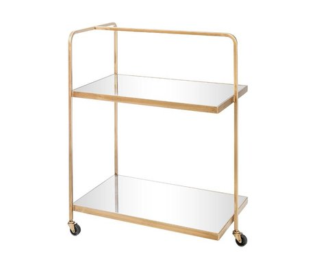 Riverdale Trolley Elano gold metal glass 79cm