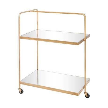 Riverdale Trolley Elano Gold Metall Glas 79cm