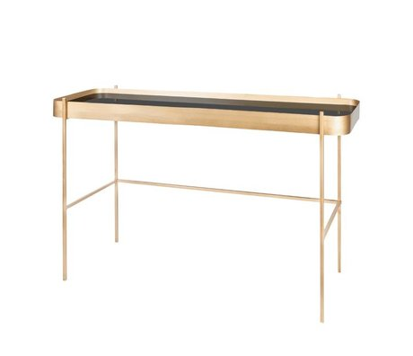 Riverdale Sidetable Elano gold metal glass 121cm