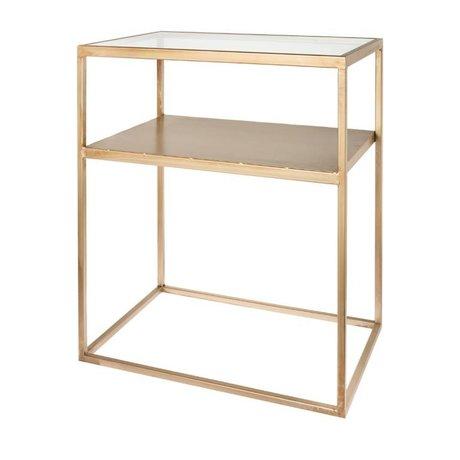 Riverdale Table d'appoint Elano verre doré 60cm