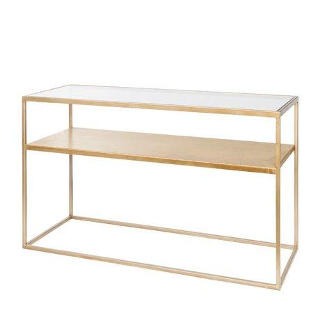 Riverdale Table d'appoint Elano en verre doré 120x40x71cm