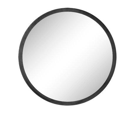 Riverdale Spiegel Elano um schwarzes Metall ø49cm