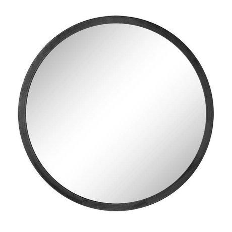 Riverdale Miroir Elano autour de métal noir ø49cm