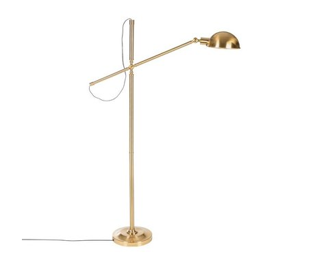 Riverdale Vloerlamp Luca goud ijzer 146cm