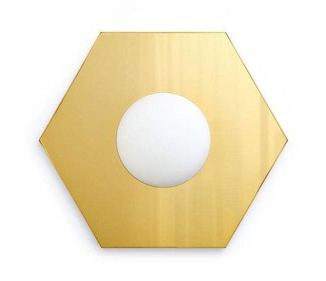 FÉST Wandlamp Holo light hexagon brass goud 36,5x42x8,5cm