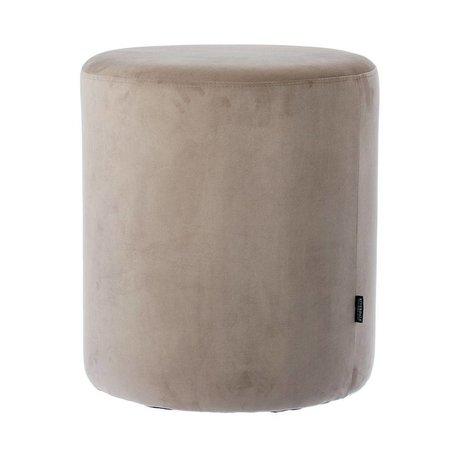 Riverdale Pouf Chelsea gray velvet Ø45x50cm