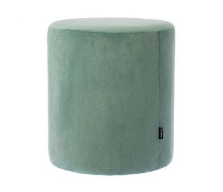 Riverdale Poef Chelsea groen fluweel Ø45x50cm