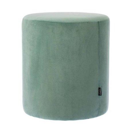 Riverdale Pouf Chelsea green velvet Ø45x50cm