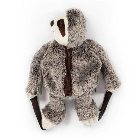 Wild and Soft Sac à dos paresseux textile gris 50x25x12cm