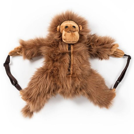 Wild and Soft Backpack Monkey brown textile 50x20x15cm