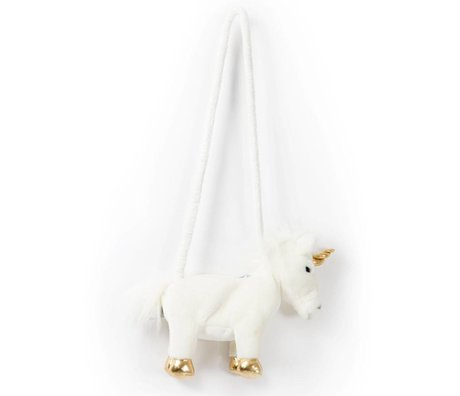 Wild and Soft Umhängetasche Unicorn Weißgold Textil 29x8x25cm