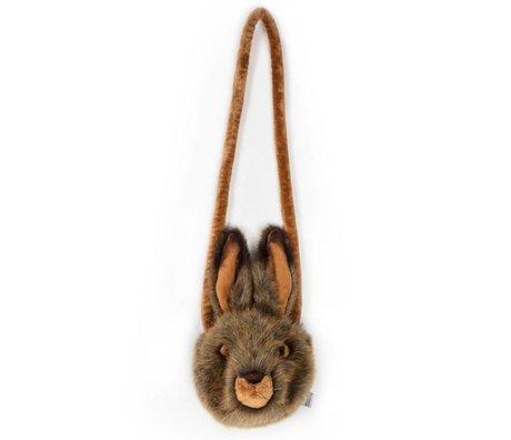 Wild and Soft Sac à bandoulière Hare textile marron 13x12x10cm