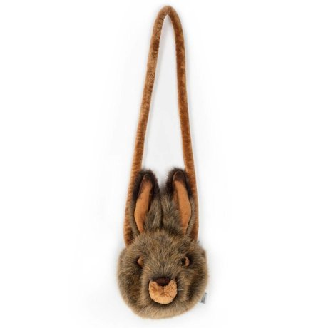 Wild and Soft Shoulder bag Hare brown textile 13x12x10cm