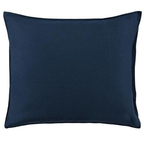 ESSENZA Taie d'oreiller Minte en satin de coton bleu marine 60x70cm