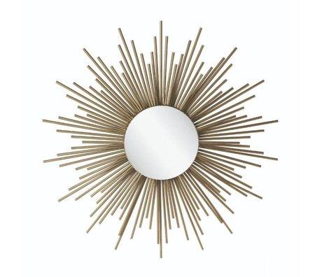 Riverdale Miroir Amaro soleil métal doré 4,5x81x81cm