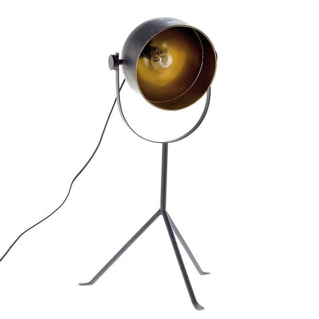 Riverdale Tischlampe Boston dunkelgrau Metall 33,5x38,5x70cm