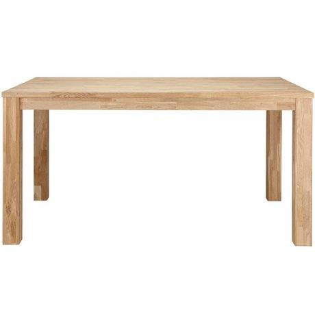 LEF collections Largo untreated oak dining table 180x85x78cm