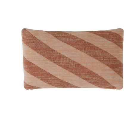 OYOY Wurfkissen Takara Caramel braun pink Baumwolle 35x50cm