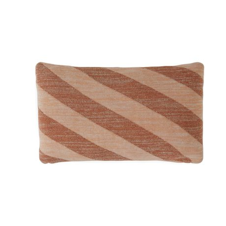 OYOY Throw pillow Takara Caramel brown pink cotton 35x50cm