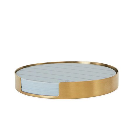 OYOY Onderzetters Oka brass goud metaal siliconen ø9,4x1,2cm