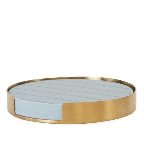 OYOY Coasters Oka brass gold metal silicone ø9,4x1,2cm