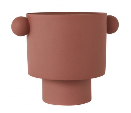 OYOY Pot Inka Kana Sienna large rood bruin keramiek ø30x23cm