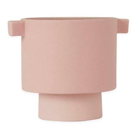 OYOY Pot Inka Kana Pink kleine Keramik ø10,5x10,5cm