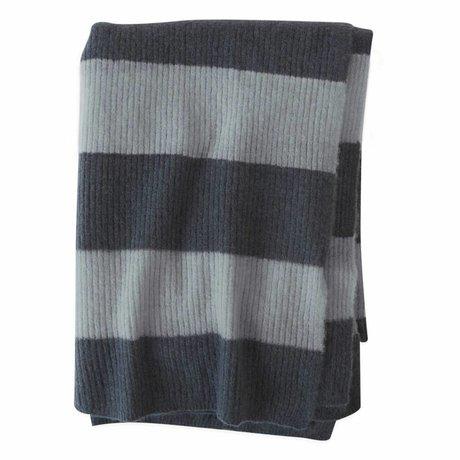 OYOY Karo Sonno ozeanblau mintgrünes Textil 170x130cm