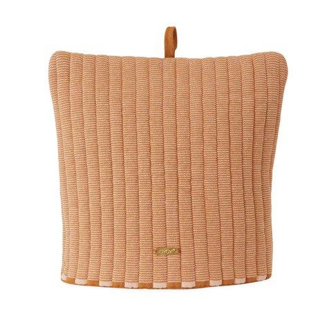 OYOY Tea cosy String coton cosy caramel marron 32x30cm