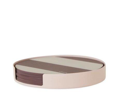 OYOY Coasters Oka pink metal silicone ø9,4x1,2cm