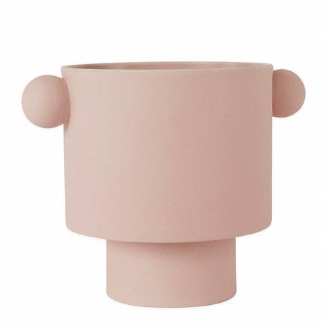 OYOY Pot Inka Kana pink large ceramic ø30x23cm