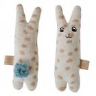 OYOY Rammelaar baby konijn beige blauw katoen 4,5x14cm